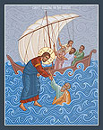 Christ Walking On The Sea